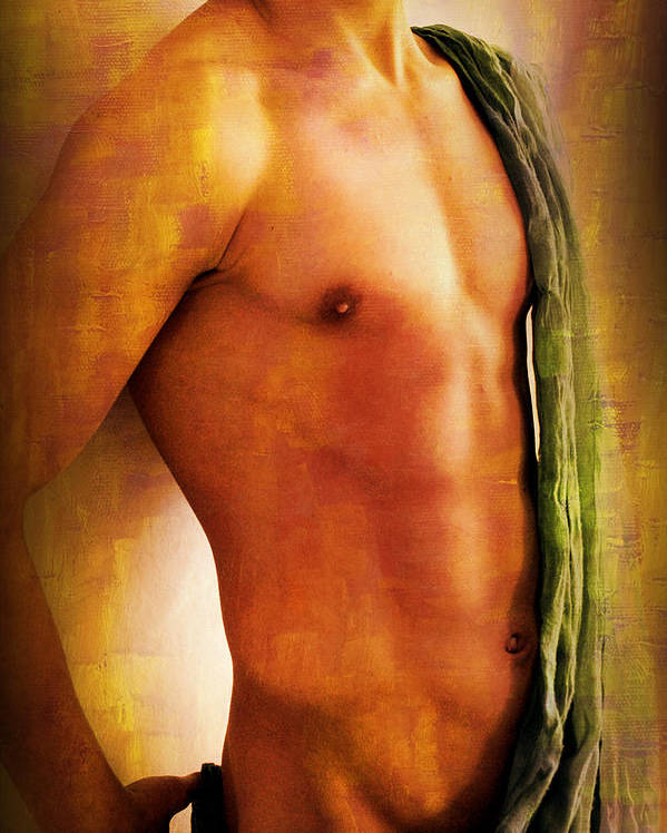 Artistic Nude Poster featuring the painting Manipulation In Yellow by Mark Ashkenazi