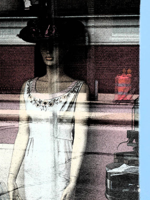 Abstract Poster featuring the photograph Mannequin Window 1 by Gary Everson