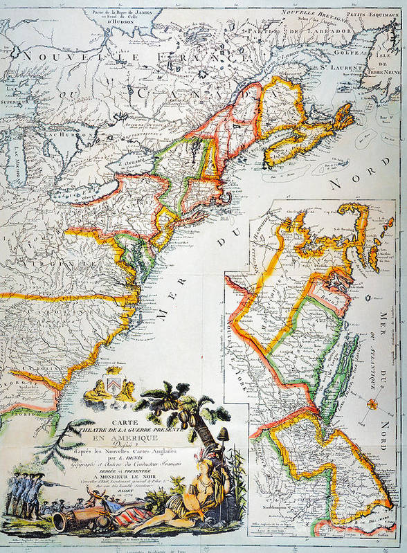 1779 Poster featuring the photograph Map Of America, 1779 by Granger
