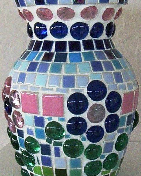 Glass Poster featuring the glass art Marble Vase by Jamie Frier