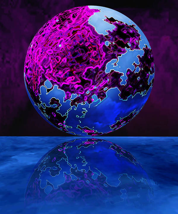 Blue Poster featuring the photograph Marble World by Christina Young
