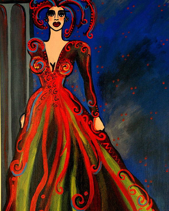 Couture Artwork Poster featuring the painting Mardi Gras by Helen Gerro