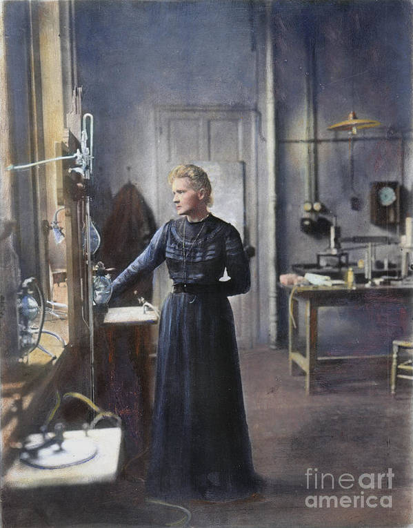 1908 Poster featuring the photograph Marie Curie (1867-1934) by Granger