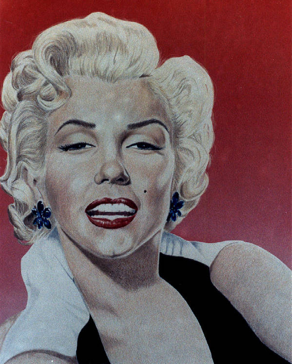 Marilyn Monroe Poster featuring the drawing Marilyn by Maria Arango