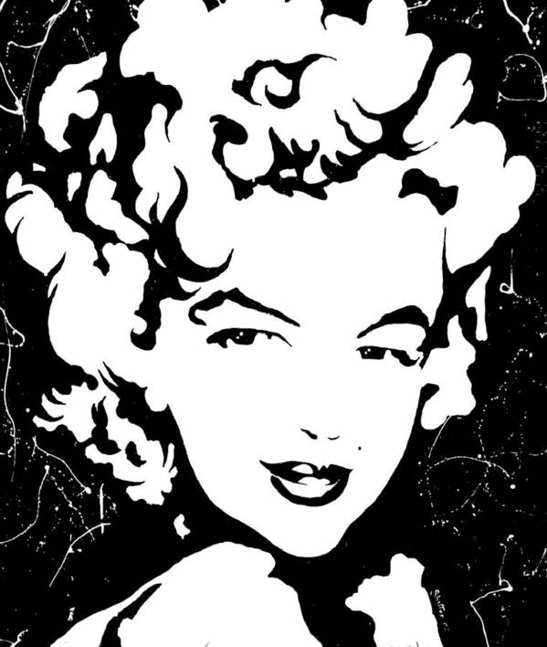 Portrait Poster featuring the painting Marilyn Monroe by Curtiss Shaffer