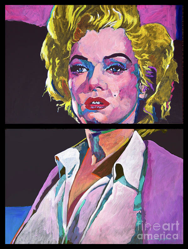 Marilyn Poster featuring the painting Marilyn Monroe Dyptich by David Lloyd Glover