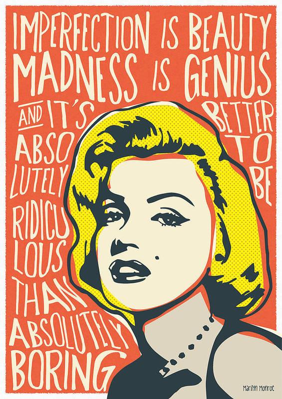 marilyn monroe pop art quote poster by bonb creative. Black Bedroom Furniture Sets. Home Design Ideas