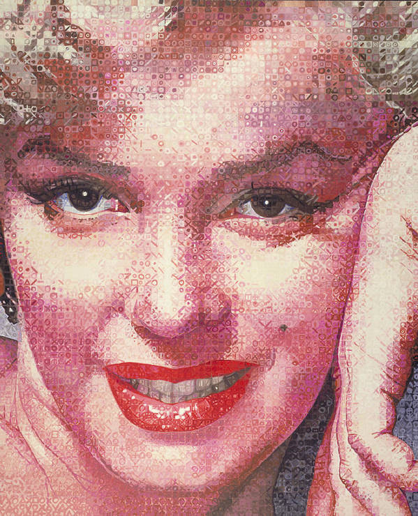 Marilyn Monroe Poster featuring the painting Marilyn by Randy Ford