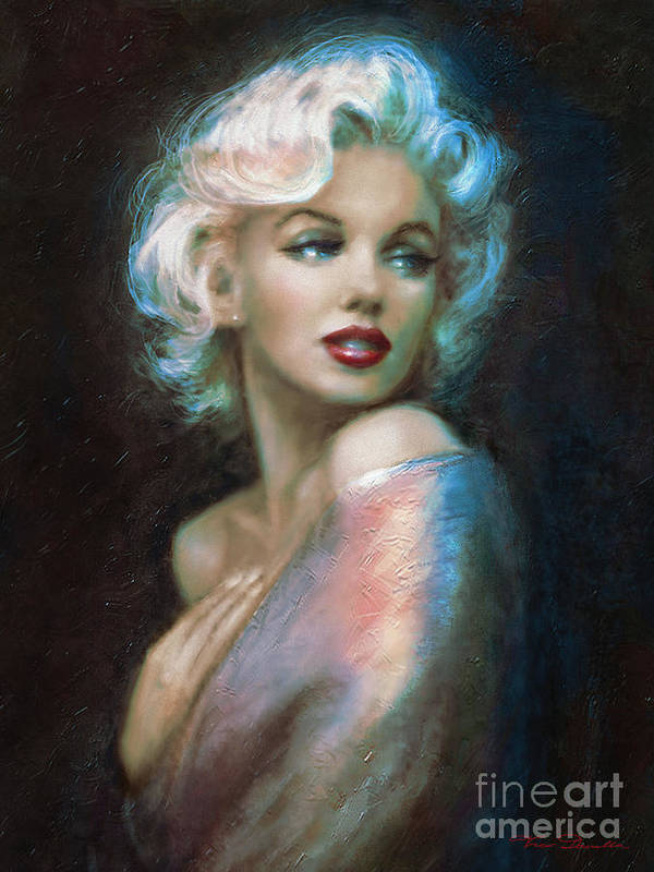 Marilyn Poster featuring the painting Marilyn Romantic Ww 6 A by Theo Danella