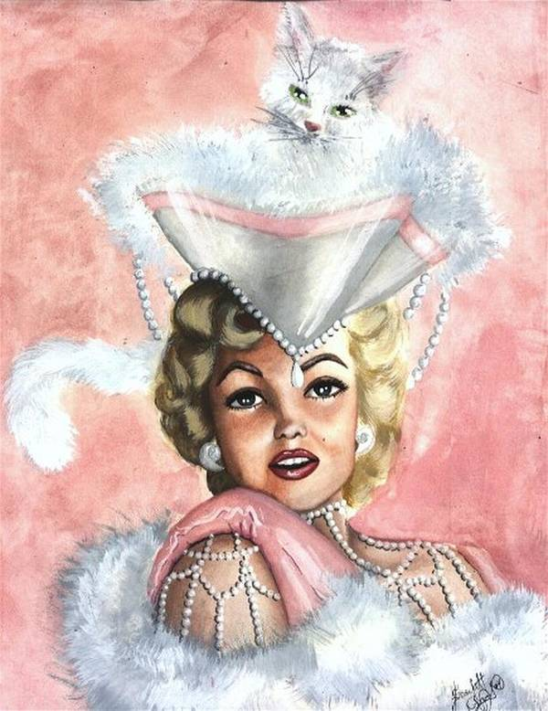 Portrait Poster featuring the painting Marilyne by Scarlett Royal