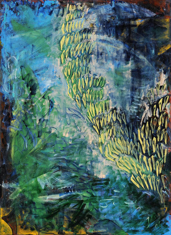 Seaweeds Poster featuring the painting MarineLife by Joan De Bot