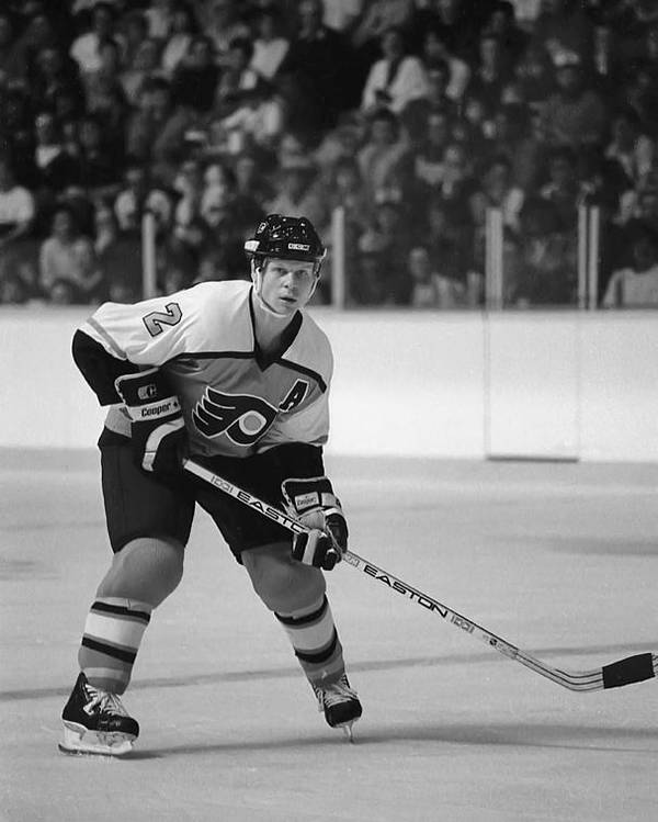 Steve Tobus Poster featuring the photograph Mark Howe by Steve Tobus