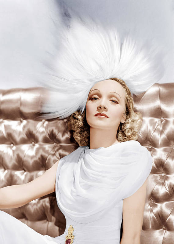 1930s Portraits Poster featuring the photograph Marlene Dietrich, Ca. 1930s by Everett