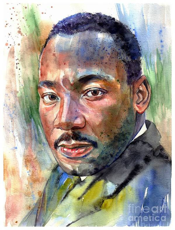 Martin Luther King Jr Poster featuring the painting Martin Luther King Jr. Painting by Suzann Sines