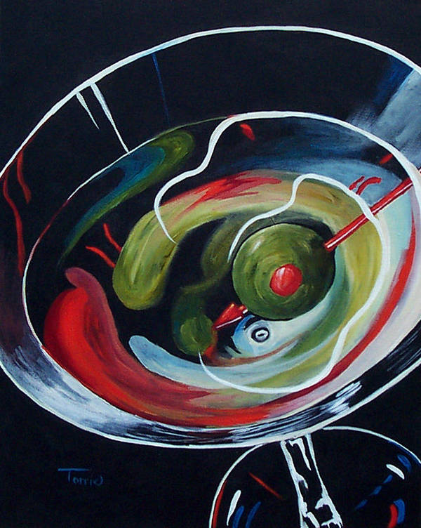 Martini Poster featuring the painting Martini - Stirred Iv by Torrie Smiley