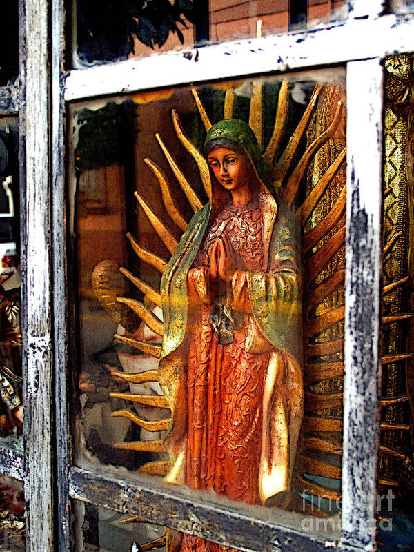 Mexico Poster featuring the photograph Mary In The Sun by Mexicolors Art Photography