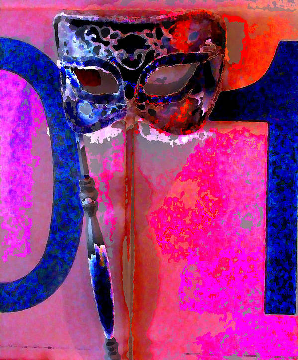 Poster featuring the digital art Mask by Danielle Stephenson