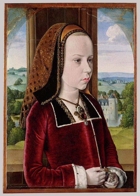 Margaret Of Austria Poster featuring the painting Master Of Moulins by Jean Hey