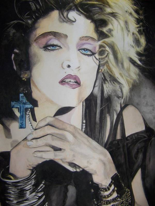 Madonna Poster featuring the painting Material Girl by Lance Gebhardt