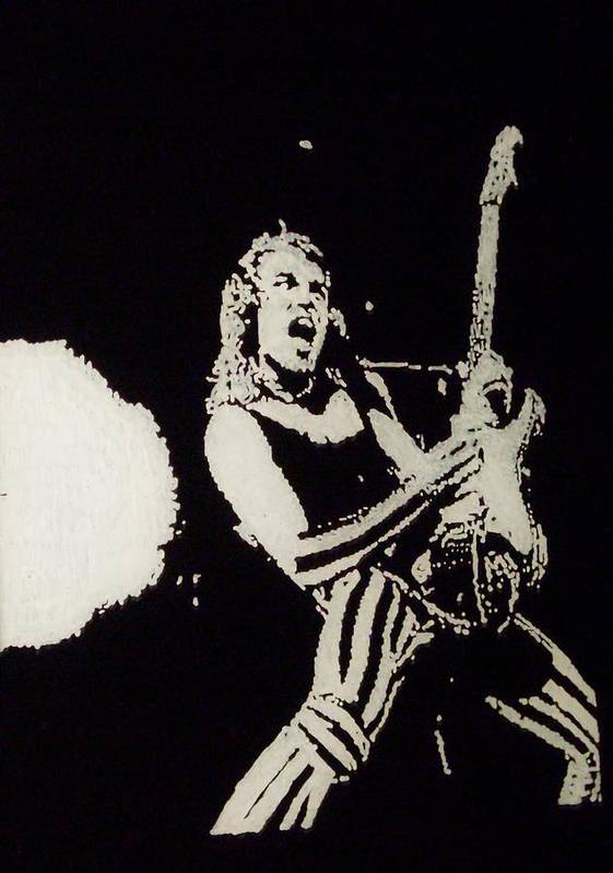 Scorpions Poster featuring the painting Mathias Jabs by Grant Van Driest