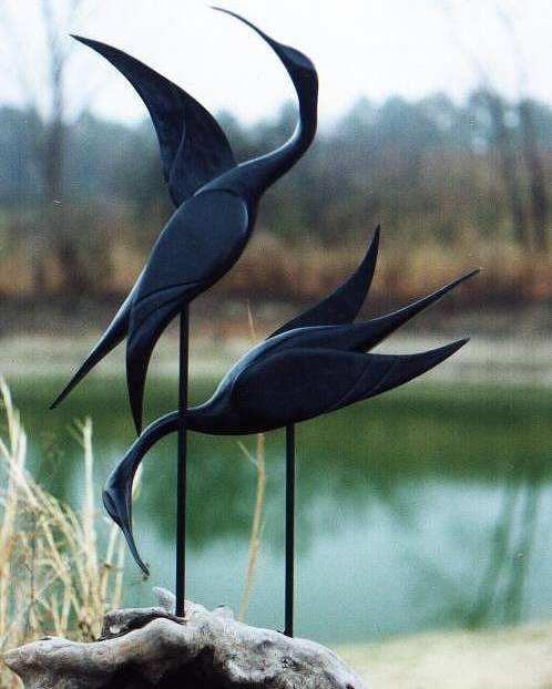 Sculptures Poster featuring the sculpture Mating Dance by Matt Cormons