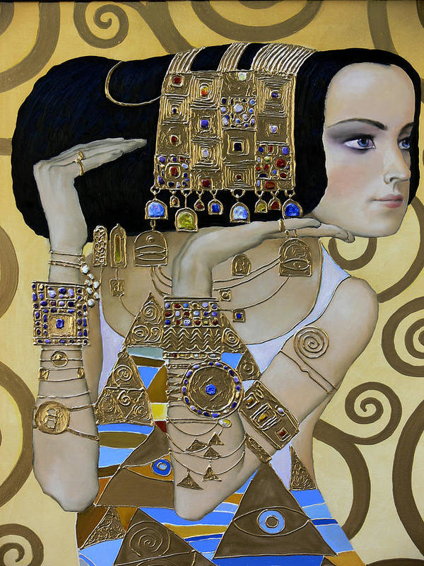 Body Poster featuring the painting Mavlo - Klimt A by Valeriy Mavlo