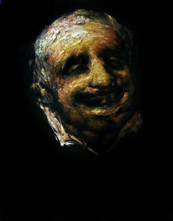 Man Poster featuring the painting mavloVgoya by Valeriy Mavlo