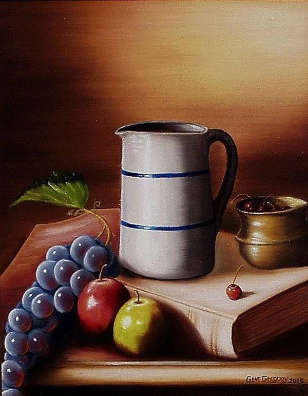 Still Life Poster featuring the painting Maws Pitcher by Gene Gregory