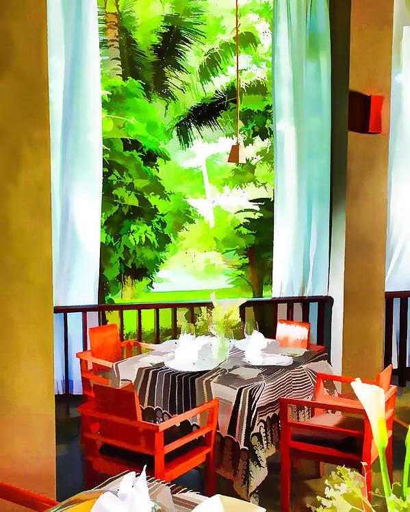 Alcohol Poster featuring the painting Maya Sari Mas by Lanjee Chee