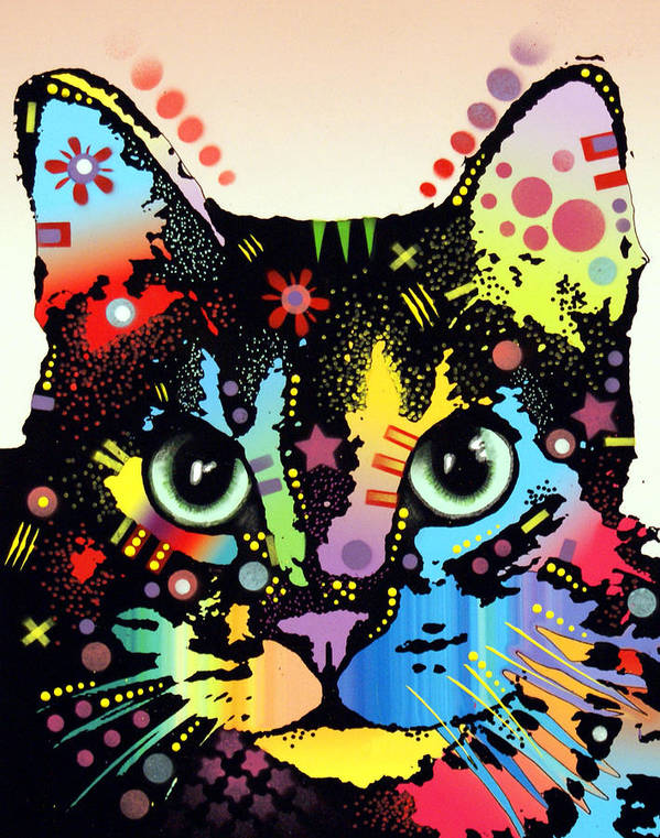 Cat Art Poster featuring the painting Maya Warrior by Dean Russo