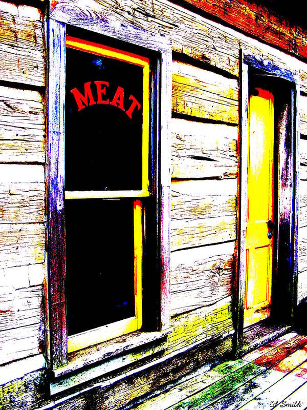 Meat Poster featuring the photograph Meat Market by Ed Smith