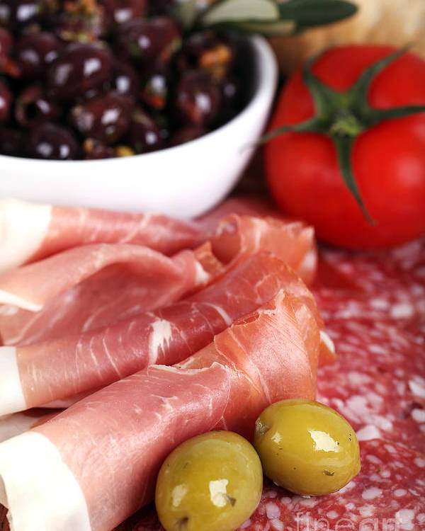 Antipasto Poster featuring the photograph Meat Platter by Jane Rix