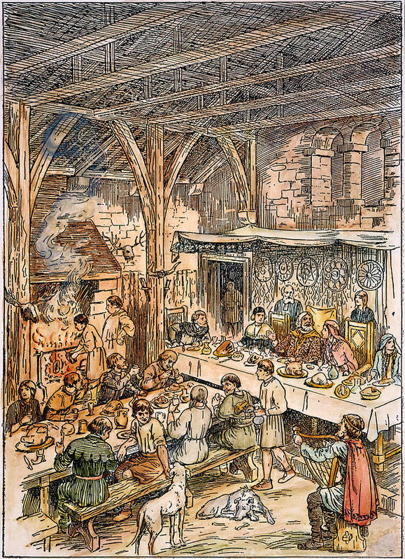 Bard Poster Featuring The Photograph Medieval Dining Hall By Granger