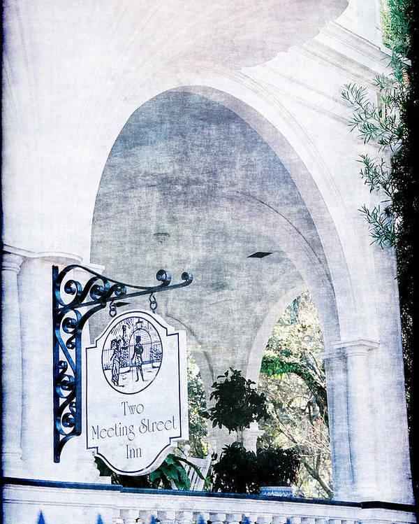 Inn Poster featuring the photograph Meeting Street Inn by Donna Bentley