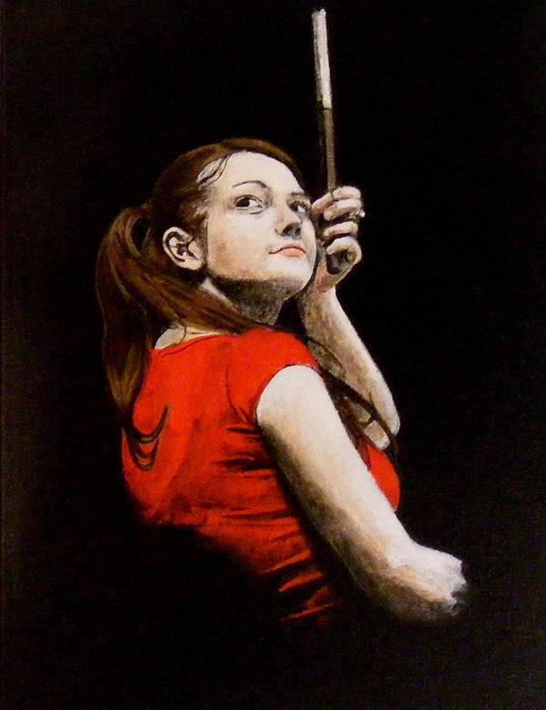 Meg White Poster featuring the painting Meg White by Luke Morrison