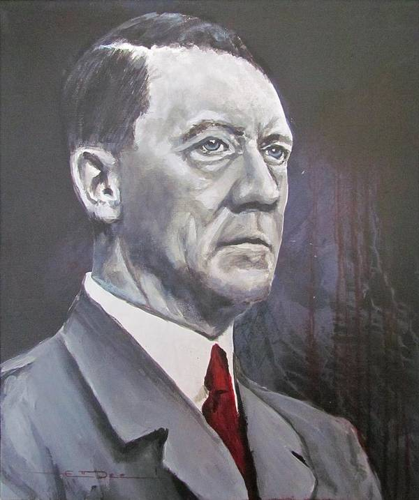 Mein Kampf Poster featuring the painting Mein Schnurrbart by Eric Dee