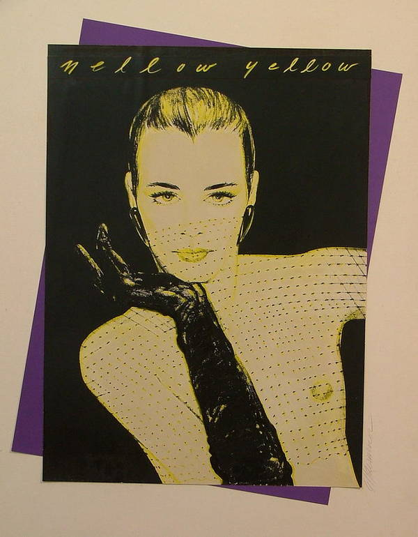 Fashion Poster featuring the painting Mellow Yellow by Gary Kaemmer