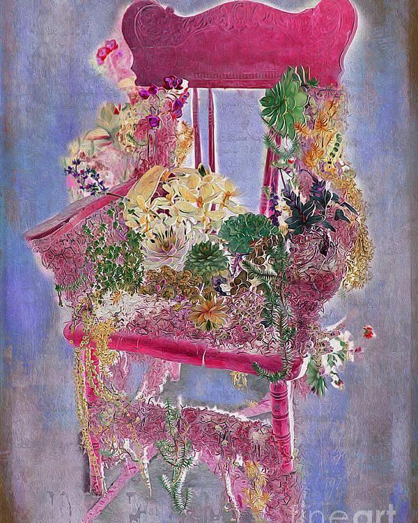 Flowers Poster featuring the photograph Memories Of Grandmother's Garden by Nina Silver