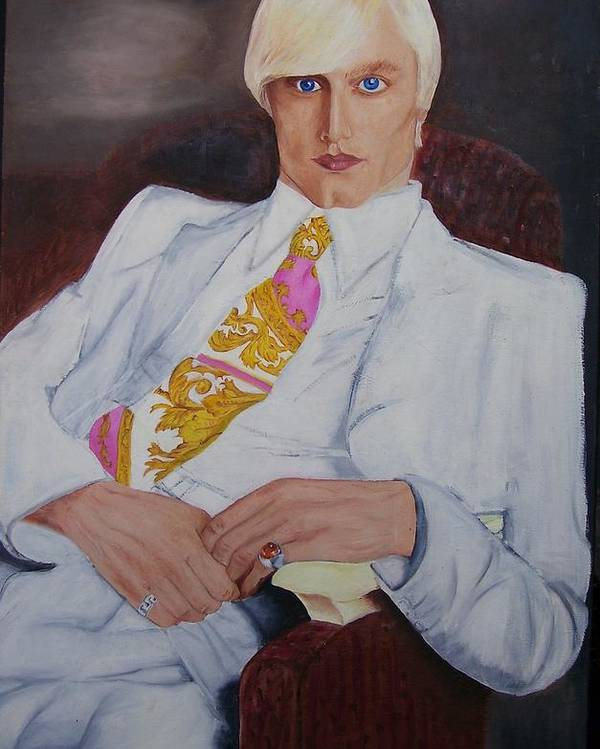 Art Poster featuring the painting Men In White by Svetlana Vinokurtsev