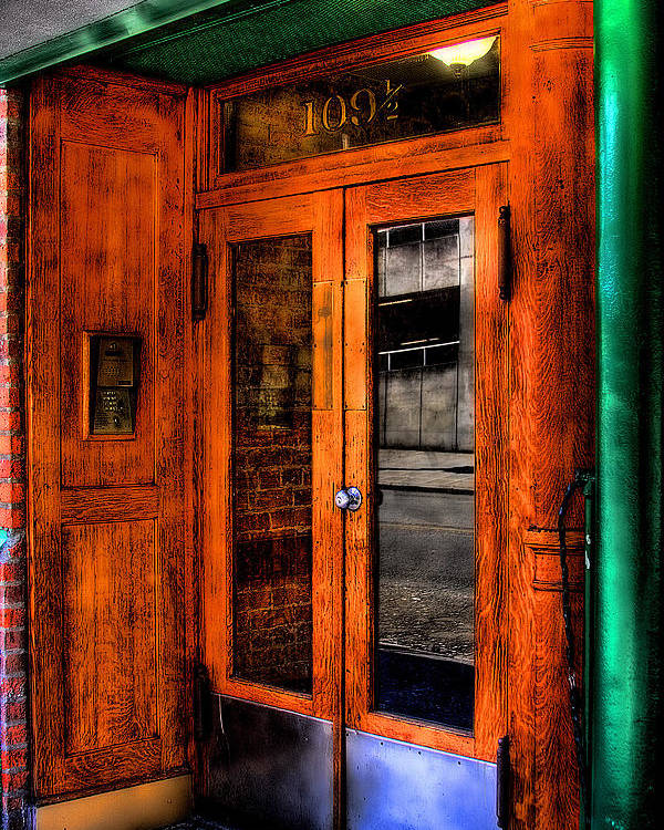 Doors Poster featuring the photograph Merchants Cafe Doors by David Patterson