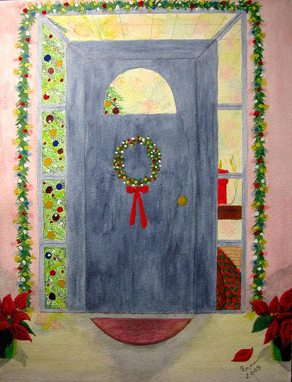 Poster featuring the painting Merry Christmas by Fran Hoffpauir