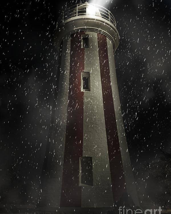 Lighthouse Poster featuring the digital art Mersey Bluff Lighthouse In Devonport. Fine Art by Jorgo Photography - Wall Art Gallery