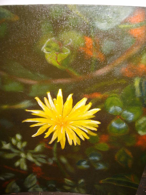 Flower Poster featuring the painting Mes Peak by Cavelle Ferguson