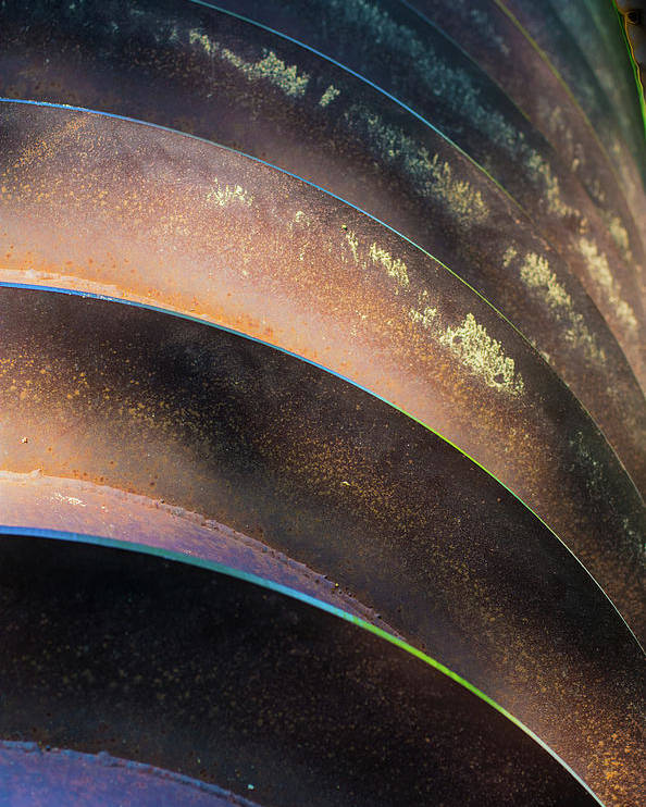 Metal Poster featuring the photograph Metal Spiral Right by Lea Rhea Photography
