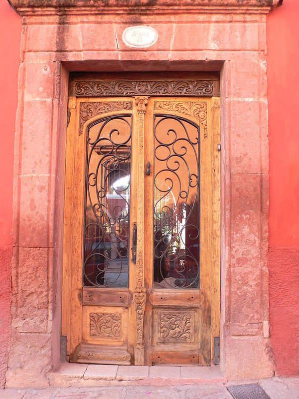 Mexico Poster featuring the photograph Mexican Doorway 2 by Francine Gourguechon