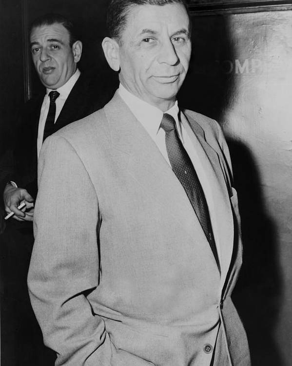 History Poster featuring the photograph Meyer Lansky 1902-1983, Underworld by Everett