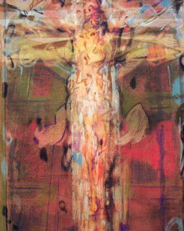 Crucifixion Poster featuring the painting Mhc #091226 by John Warren OAKES