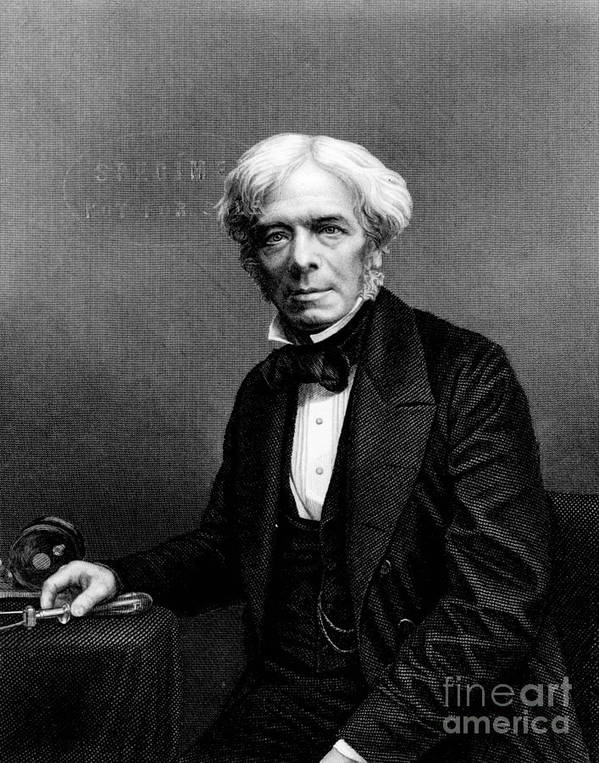 History Poster featuring the photograph Michael Faraday, English Physicist by Photo Researchers