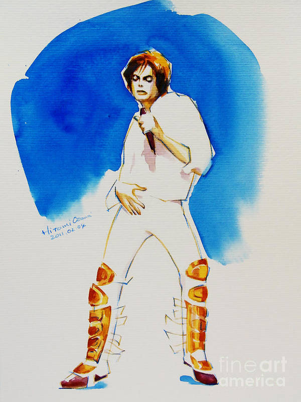 Michael Jackson Poster featuring the painting Michael Jackson - 30th Anniversary by Hitomi Osanai