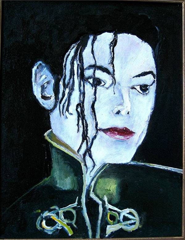Music Poster featuring the painting Michael Jackson 2 by Udi Peled